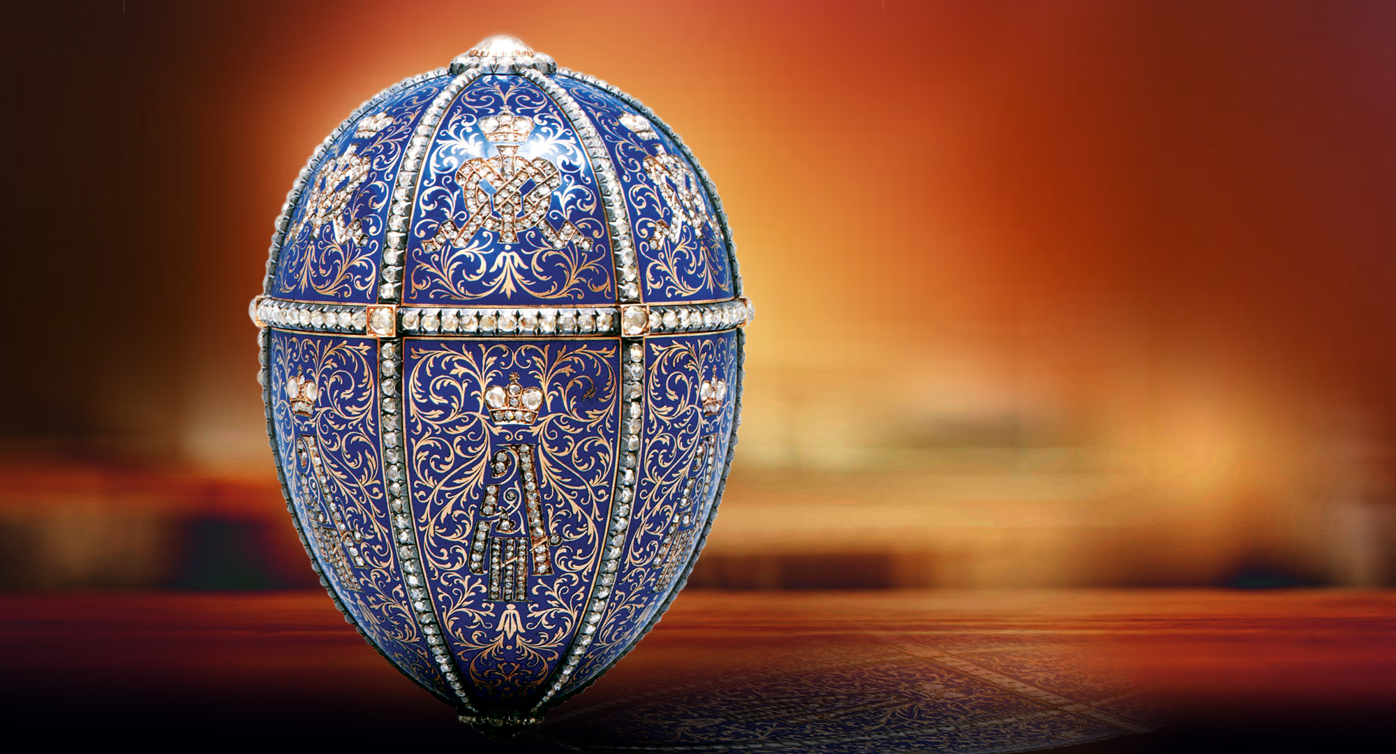 Fabergé Egg - Twelve Monograms, Also known as the Alexandra III portraits egg