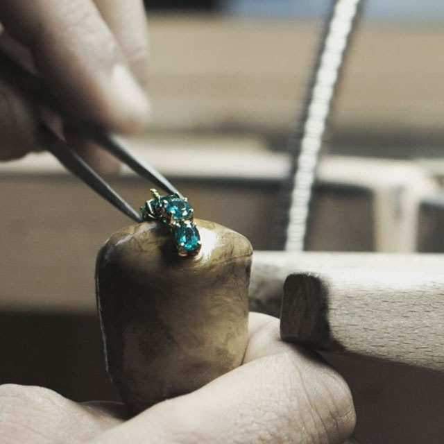 Faberge jewellery being made by master craftsman