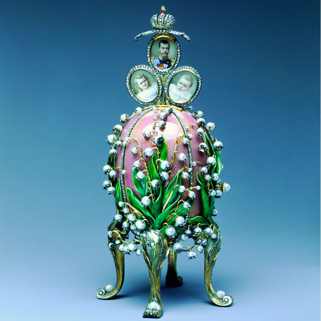 Fabergé Egg – Lilies of the Valley Egg, 1898 with miniature photos surprise