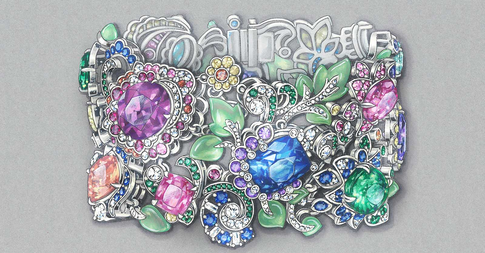 Image: Coloured drawing of a unique faberge jewellery piece. Text: Bespoke & Personalization