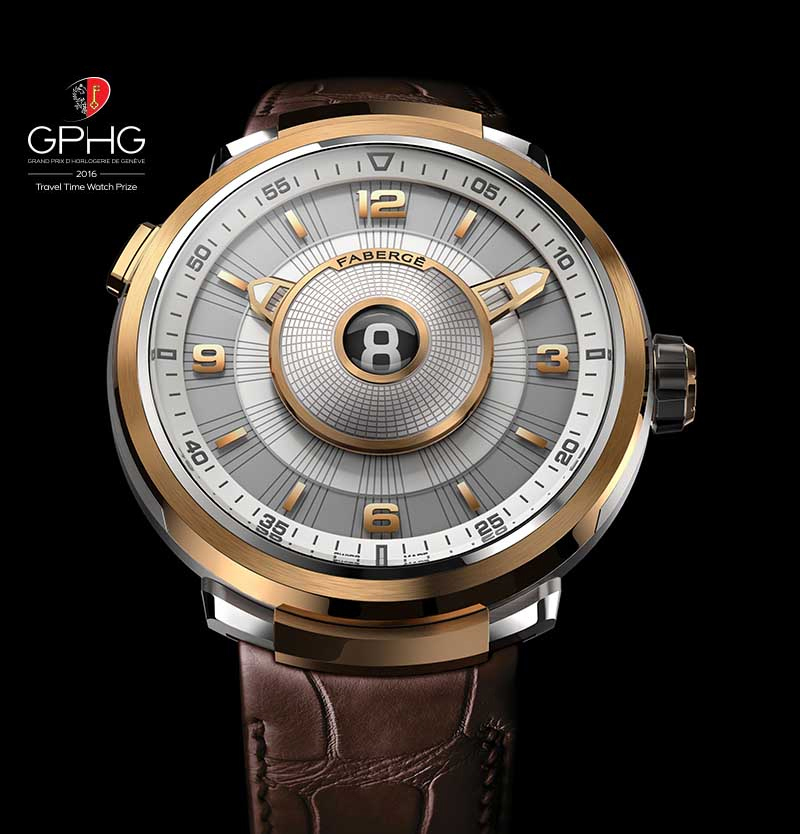 FABERGÉ VISIONNAIRE DTZ 18 KARAT ROSE GOLD Men's Wrist Watch.