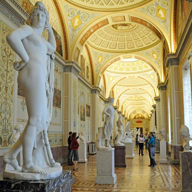 Interior of The Gallery of the History of Antique Painting in the Hermitage