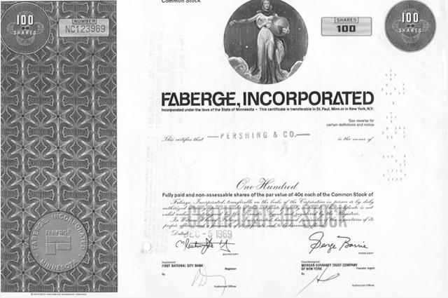 Image of Fabergé Incorporated papers