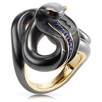 Black Sea Serpent Ring