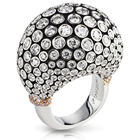 Platinum Gold Diamonds Ring - Fabergé Kalinka Ring