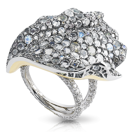 Platinum Diamond, Fire Opals & Moonstone Ring | Fabergé