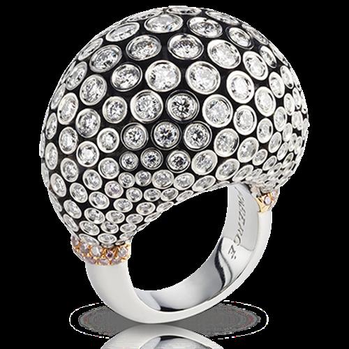 Kalinka Platinum & 18K Gold Diamond Cluster Statement Ring