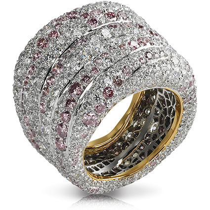 White & Rose Gold Diamond Ring | Fabergé