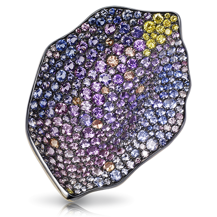 Gold, Silver, Diamond & Multicoloured Gemstone Pendant | Fabergé