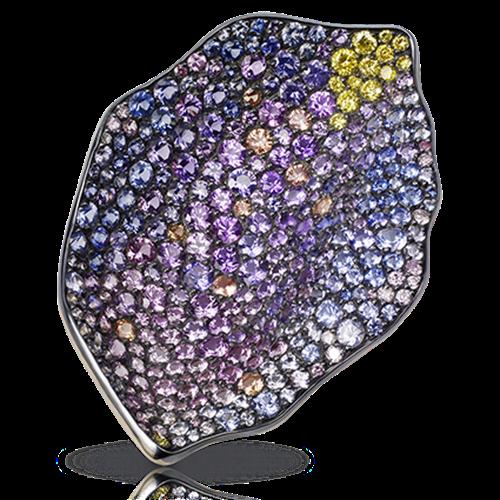 Purple Rose Petal Pendant