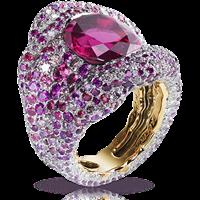 Vagabonde Drapée Rosée Ring