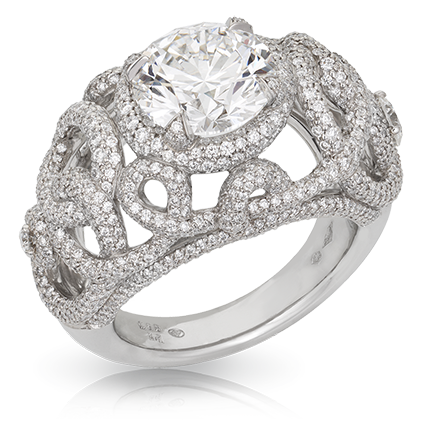 Platinum Diamond Ring - Fabergé Mazurka Ring
