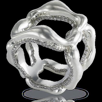 Platinum & Yellow Gold Diamond Ring | Fabergé