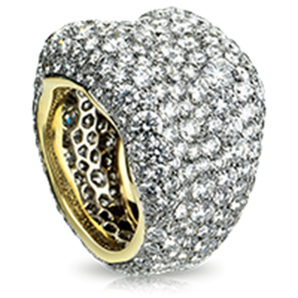 Yellow & White Gold Diamond Grand Ring | Fabergé