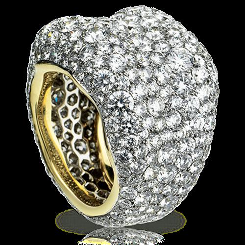 Yellow & White Gold Diamond Grand Ring | Fabergé