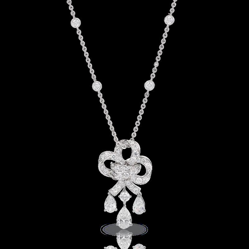 White Gold Diamond Pendant - Fabergé Lustre Pendant
