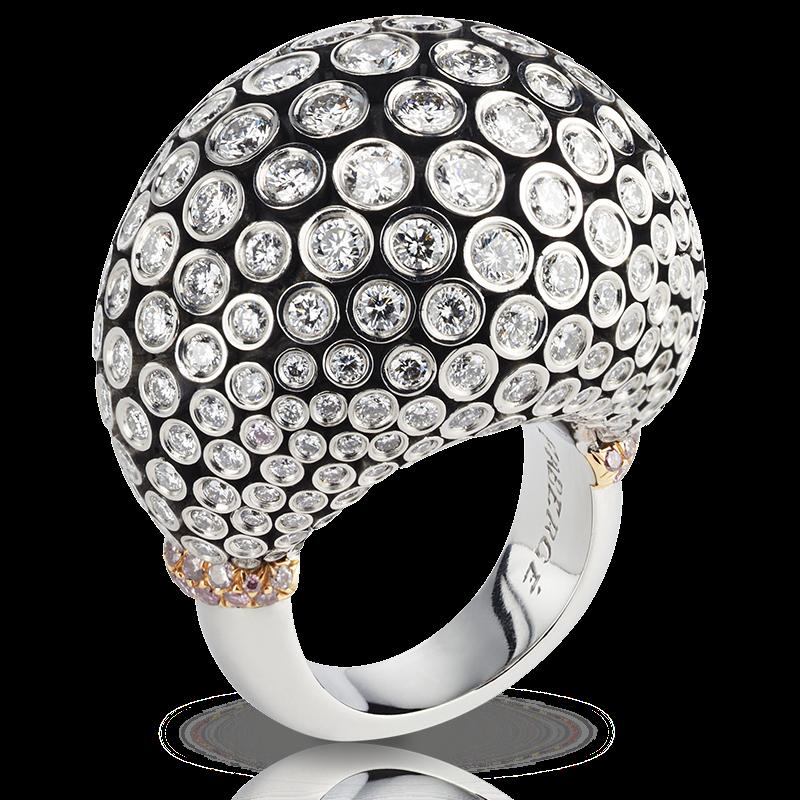 Platinum Gold Diamonds Ring - Fabergé Kalinka Ring