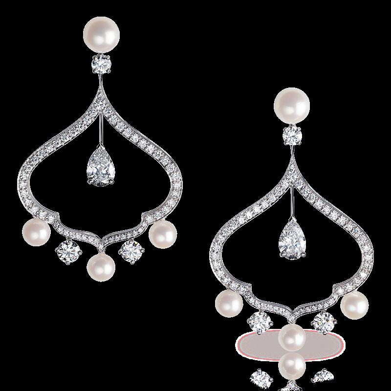 Diamond Earrings - Fabergé  Zhivago Cupola Earrings