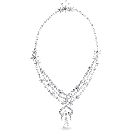 Pearl and Diamond Necklace - Fabergé Le Collier Zhivago