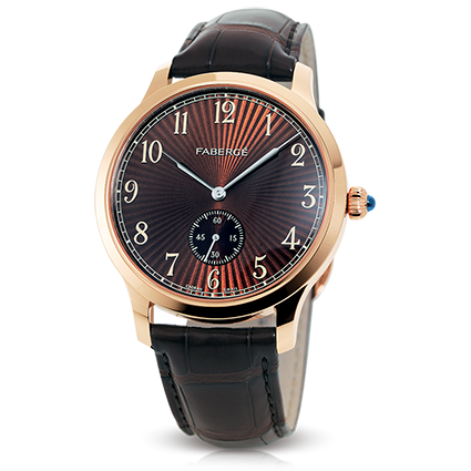 Luxury Men's Watches - Fabergé Agathon Small Seconds Rose Gold and Hazel Dial