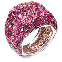 Sapphire Ring - Fabergé  Emotion Rose Sapphire Ring