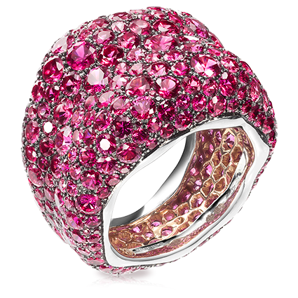 White and Pink Gold, Pink Sapphire Ring - Fabergé Émotion Saphirs Roses Ring
