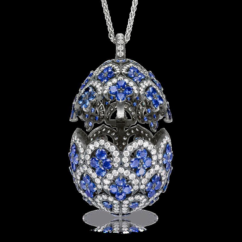 Fabergé Egg Pendant - ZénaÏde Sapphire Egg Pendant