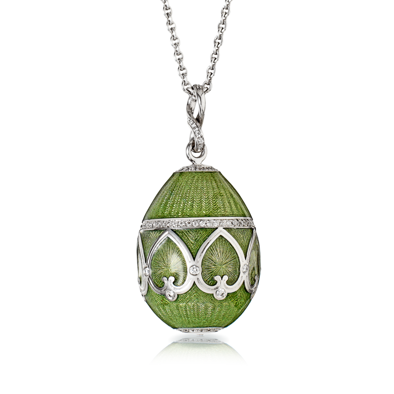 Faberge Egg Pendant - Palais Peterhof Véronese Green Pendant