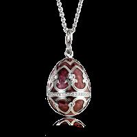 Faberge Egg Pendant - Palais Tsarskoye Selo Prune Pendant