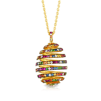 Spiral Multi coloured Pendant