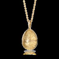 Faberge Egg Pendant - Daisy Rose Gold Pendant