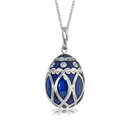 Faberge Egg Pendant - Palais Yelagin Royal Blue Pendant