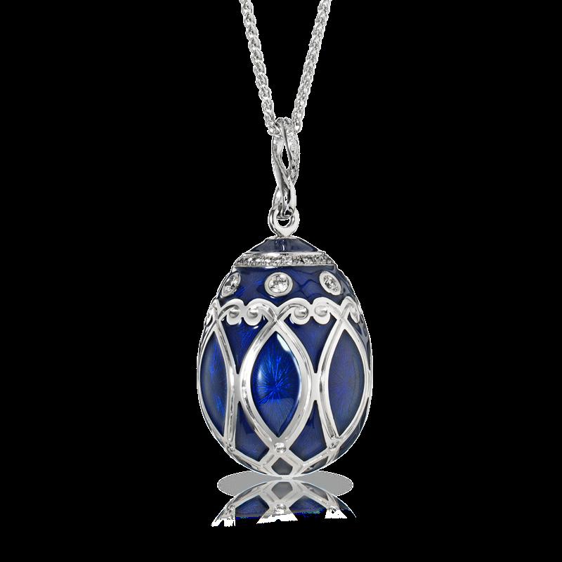 Faberge Egg Pendant - Palais Yelagin Royal Blue Pendant