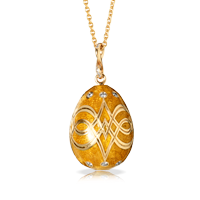 Faberge Egg Pendant - Palais Gatchina Peach Pendant