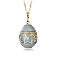 Faberge Egg Pendant - Palais Peterhof Sky Blue Pendant