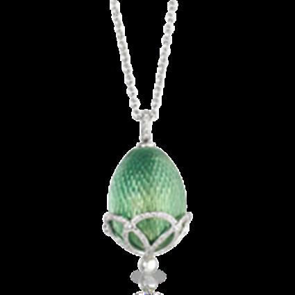 Faberge Egg Pendant - Emaux Olga Green Apple Pendant