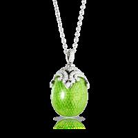 Faberge Egg Pendant - Emaux Sophia Apple Green Pendant