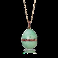 Faberge Egg Pendant - Stoneflower Mint Green Chrysoprase Pendant