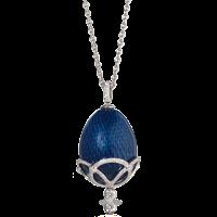 Faberge Egg Pendant - Emaux Olga Royal Blue Pendant