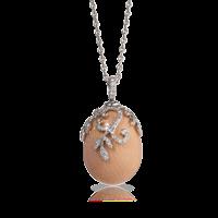 Faberge Egg Pendant - Emaux Nina Soft Pink Pendant