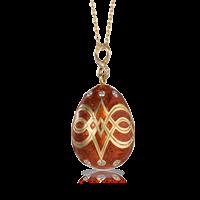 Faberge Egg Pendant - Palais Gatchina Cardinal Red Pendant