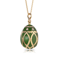 Faberge Egg Pendant - Palais Yelagin Forest Green Pendant