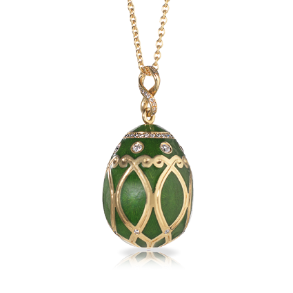 Faberge Egg Pendant - Palais Yelagin Forest Green Pendant