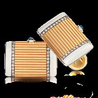 Faberge Cufflinks - Felix Cabochon Sapphire Cufflinks