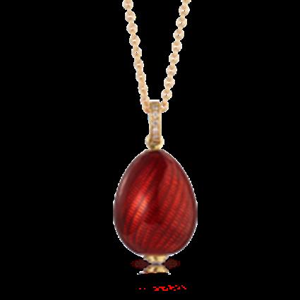 Fabergé Egg Pendant - Pure Cardinal Red Pendant