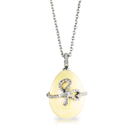 Faberge Egg Pendant - Emaux Sophie Ivory Pendant