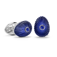 Blue Sapphire and Crystal Fabergé Egg Cufflinks