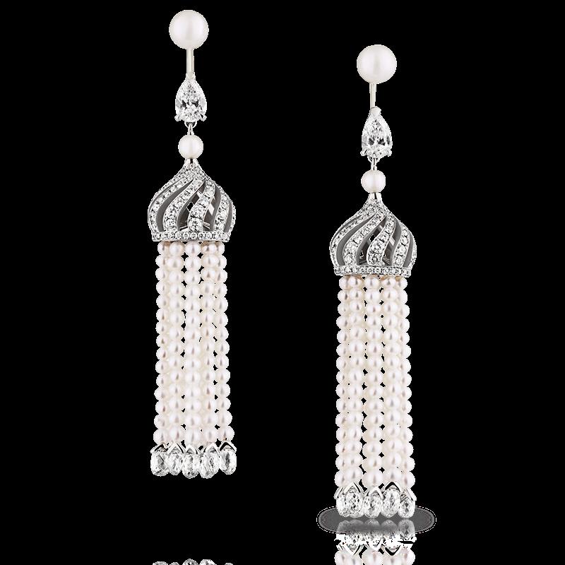Diamond and Pearl Earrings – Fabergé Imperial Troika Earrings