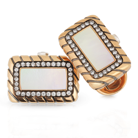 Faberge Cufflinks - Kirill Mother of Pearl Cufflinks