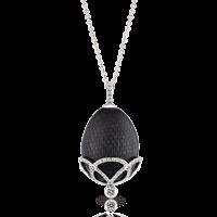 Faberge Egg Pendant - Emaux Olga Prune Pendant